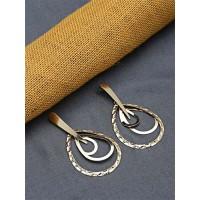 Long Golden Dangle Earrings
