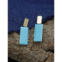 Blue and Golden Dangle Earrings