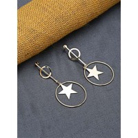 Golden Star Dangle Earrings