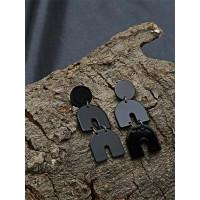 Layered Black Western Earrings For Women