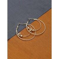 Multi-layered Golden Hoop Earrings