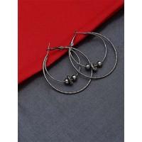 Layered Silver Hoop Earrings