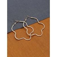 Golden Star Hoop Earrings For Women