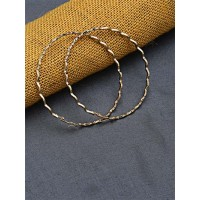 Big Golden Patterned Hoop Earrings