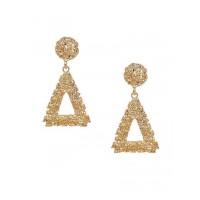Lightweight Golden Triangular Dangle Earrings