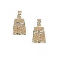 Lightweight Golden Textured Dangle Earrings