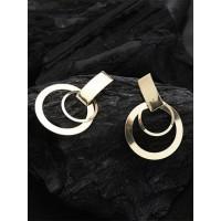 Lightweight Golden Dangle Hoop Earrings