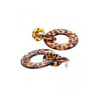 Lightweight Textured Brown Hoop Earrings