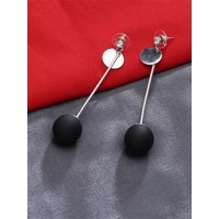 Lightweight Black and Silver Dangle Earrings