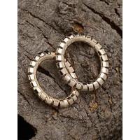 Designer Golden Hoop Earrings