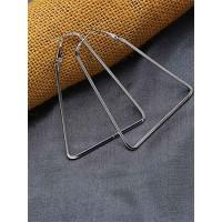 Lightweight Silver Triangular Earrings