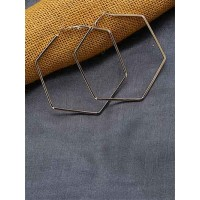 Lightweight Golden Classic Geometrical Earrings