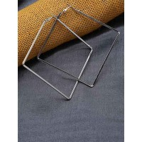 Lightweight Silver Square Earrings