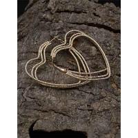 Lightweight Golden Heart Earrings