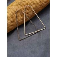 Lightweight Golden Triangular Earrings