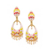 Lavender Meenakari Dangle Earrings