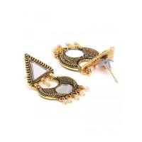 Golden Mirror Dangle Earrings For Women