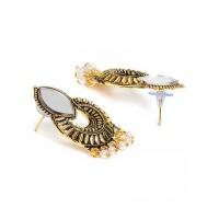 Short Golden Mirror Earrings