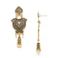 Ganesha Golden Ethnic Dangle Earrings