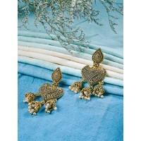 Golden Spade Dangle Earrings