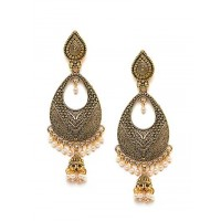 Classic Long Golden Dangle Earrings
