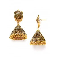 Long Golden Bell Ethnic Jhumkas