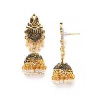 Ganesha Golden Ethnic Jhumkas