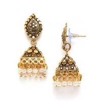 Short Golden Bell Ethnic Jhumkas