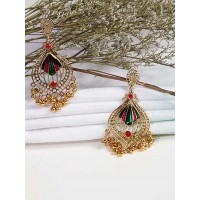 Lightweight Golden Ethnic Earrings