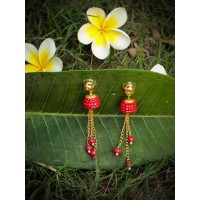 Layla Rouge Studded Brass Plated Party Wear Earrings