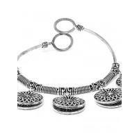 Oxidized Silver Bracelet with Chunky Charms