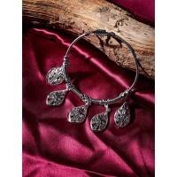 Oxidized Silver Bracelet with Drop Charms