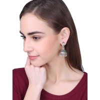 Ethnic Tribal Cut Tribal Jewellery Silver Jhumka Earrings