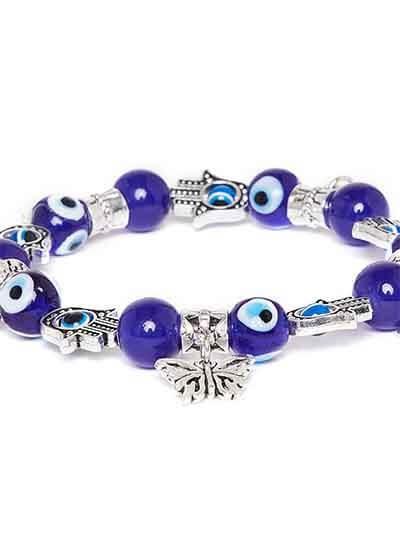 Blue Heart Charm Bracelet