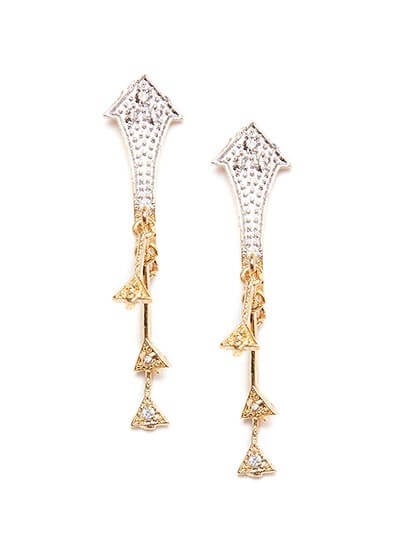 American Diamond Arrow Earrings