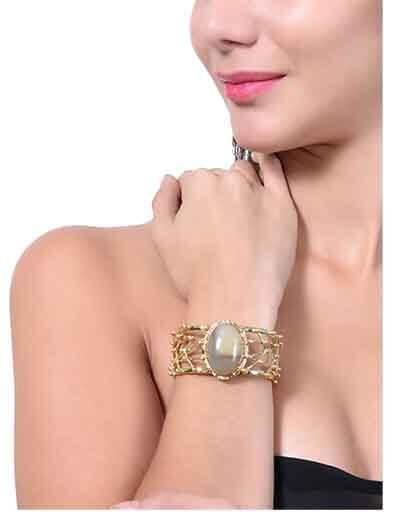Natural Agate Semi Precious Handmade Jewellery Cuff