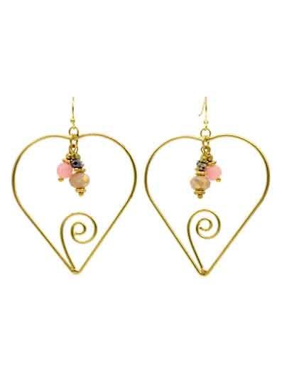Alloy Metal Delicate Floral Western Earrings for Women