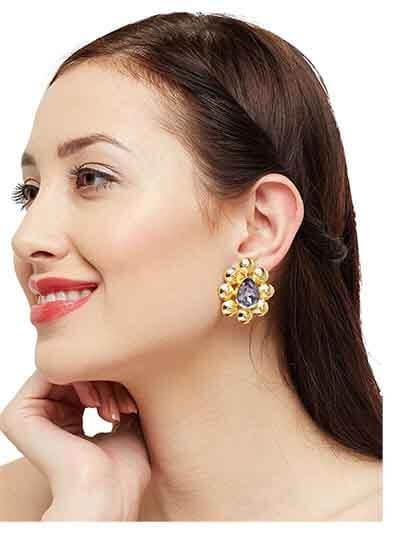 Afterglow Party Designer Wear Brass based Party Wear Earrings
