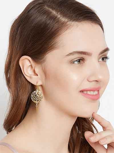 Golden Circular Earrings