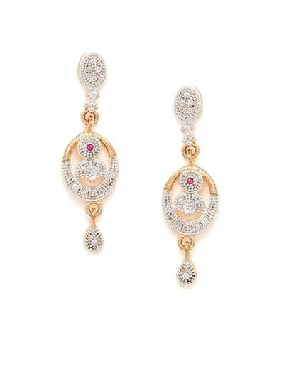 American Diamond Daily wear Dangle Earrings