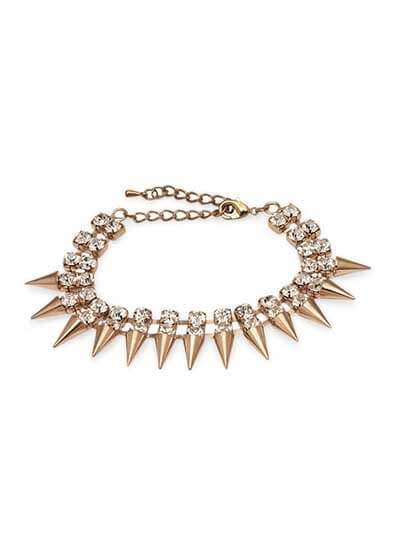 Spiked Golden Handmade Jewellery Bracelet