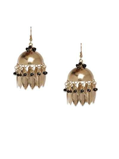Aisha Metal Silver Leaf Handmade Western Earrings