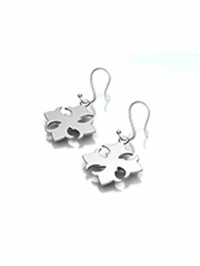 Silver Cross Earrings