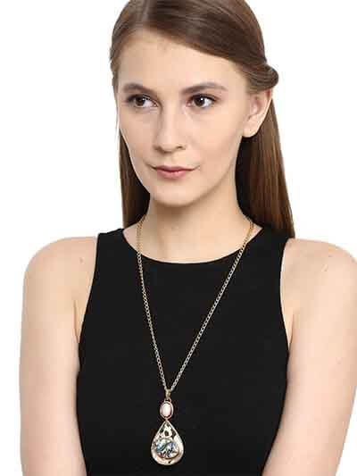 Pearl Drop Pendant Chain Fashion Necklace