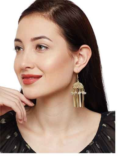 Iris Cream Delicate Party Tassel Western Earrings