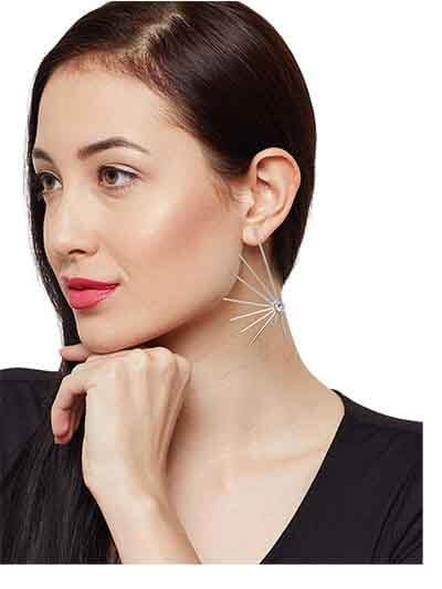 Semi Star 9 to 5 Office Wear Jewellery Earrings