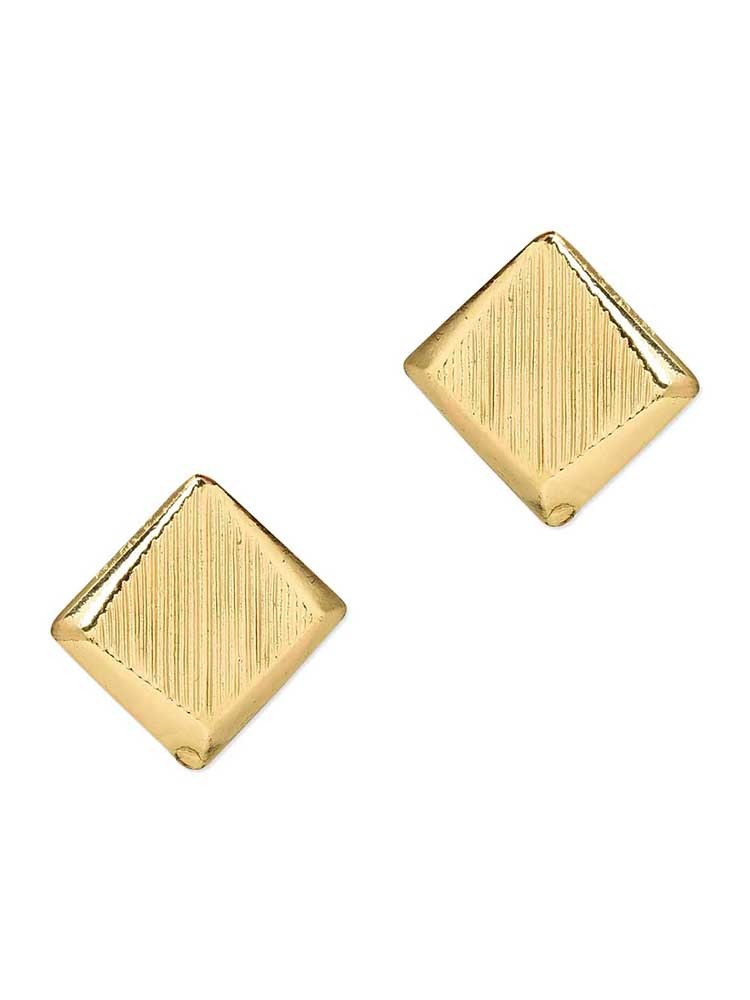 Scratched Mirror Studs Western Earrings
