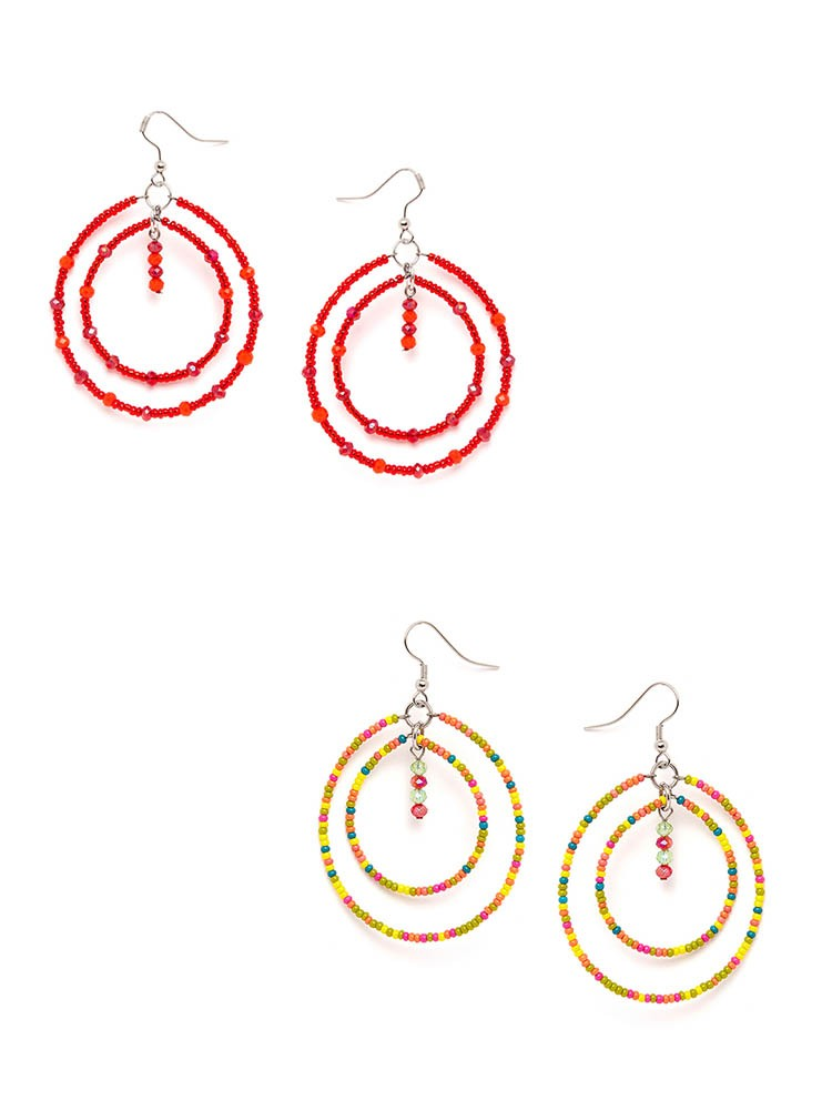 Red and Multicolored Western Hoops Combo