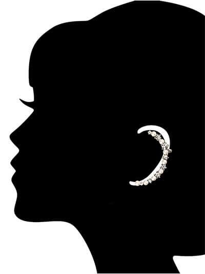 Pearl and Diamond Earcuffs Western Earrings