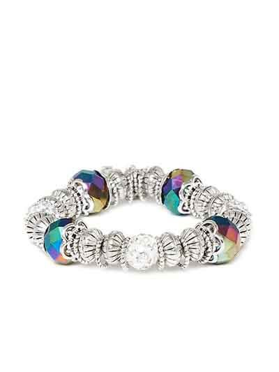 Multicolored Artificial Charm Bracelet